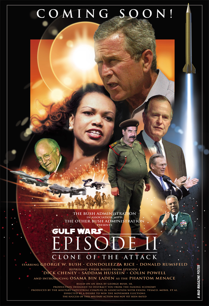 Gulf Wars Episode II, Clone of the Attack. Writers: Arie Kaplan and Scott Sonneborn